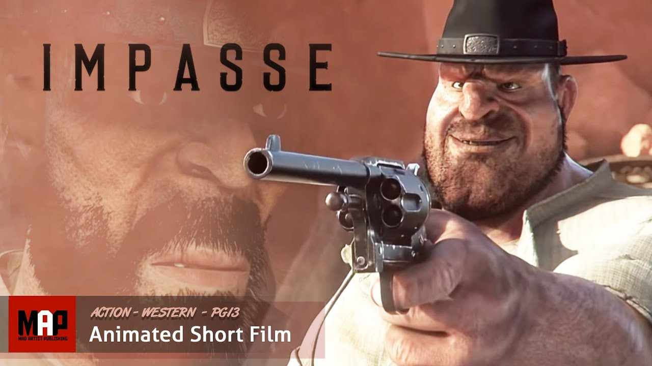 Action Western CGI 3D Animated Short ** IMPASSE** Film by James Hall at MDS