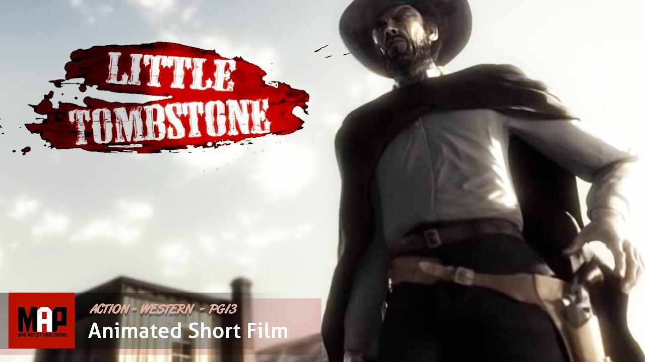 Action Western CGI 3D Animated Short ** LITTLE TOMBSTONE ** Film Animated by ESMA Team
