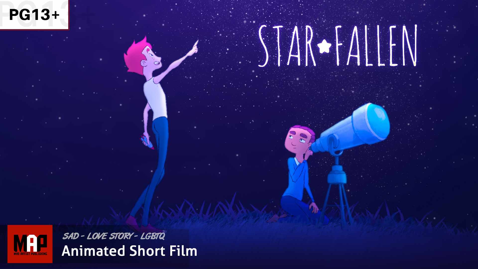 Award Winning LGBTQ Animated Film ** STAR FALLEN ** Love Story by Alex Tagali [PG13]