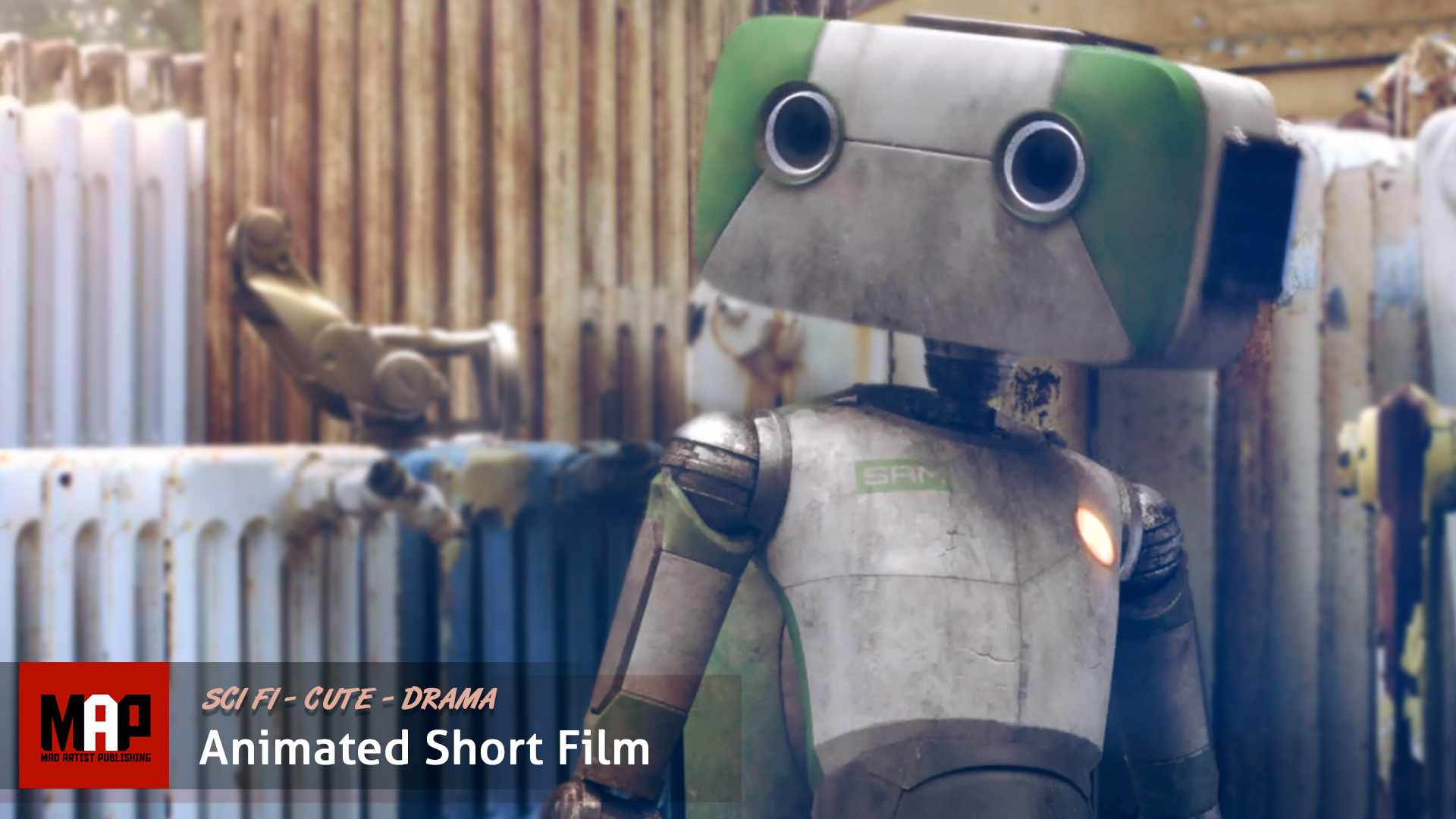 Cute VFX & CGI Animated Short Film ** SACCAGE ** AI Robot Animation by ISART Digital