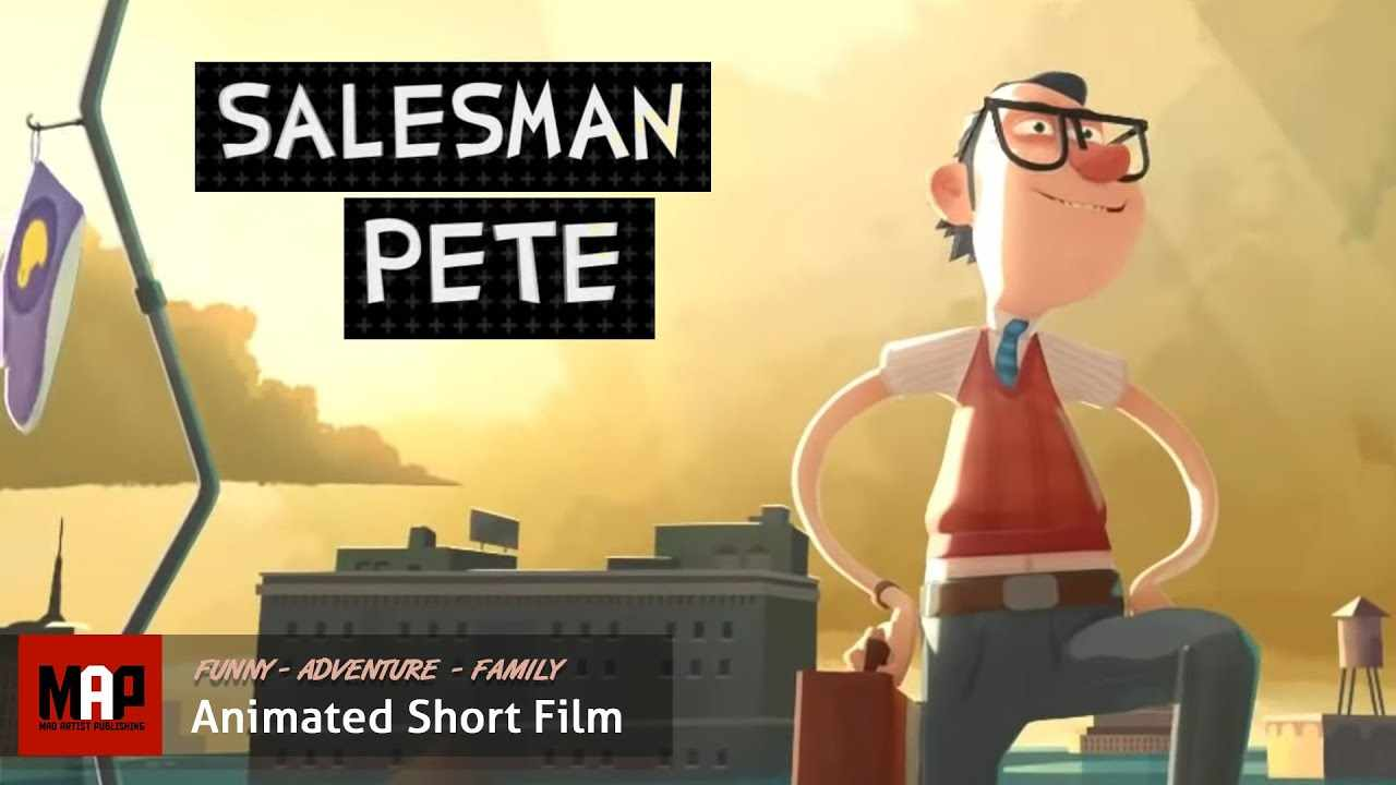 Funny CGI 3d Animated Short Film ** SALESMAN PETE ** Animated Adventure by GOBELINS Team