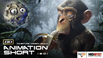 Funny CGI 3D Animated Short Film ** MONKEY MOON ** Funny Animation by CentreNAD Team
