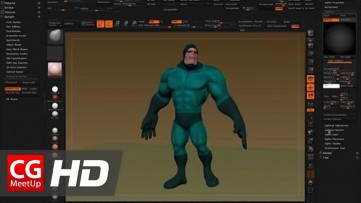 Posing a ZBrush Character with ZSpheres and Masking | CGI 3D Tutorial HD | CGMeetup