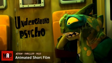 Suspense Thriller CGI 3D Animated Short ** UNDERGROUND PSYCHO ** Animation by GOBELINS
