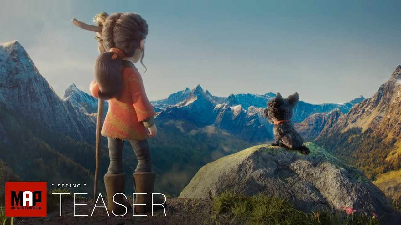TRAILER | Cute Adventure CGI 3d Animated Short Film ** SPRING ** by Blender Foundation