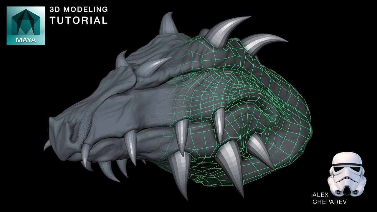 ZBrush to Maya to ZBrush - Retopology and UVing with Quad Draw