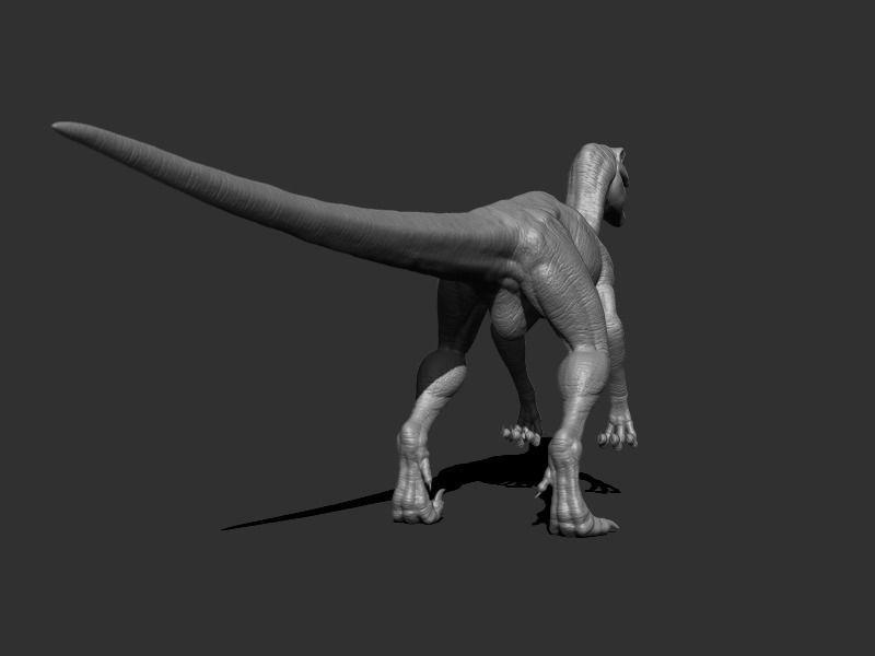 3D Velociraptor Dinosaur Rigged RealTime VR / AR / low-poly