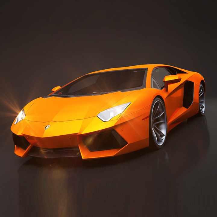 Lamborghini Aventador Rigged C4D 3D model