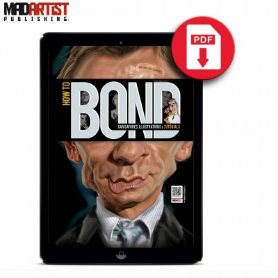 eBook - How to BOND: Caricatures, Illustrations & Tutorials (Villains, Girls & Agents)