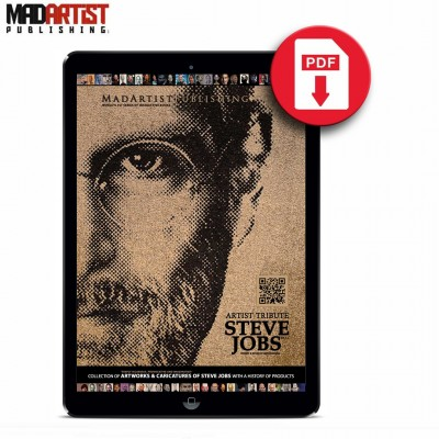 eBook - Steve Jobs : Artist Tribute - Collection of artworks & caricatures with a history of products