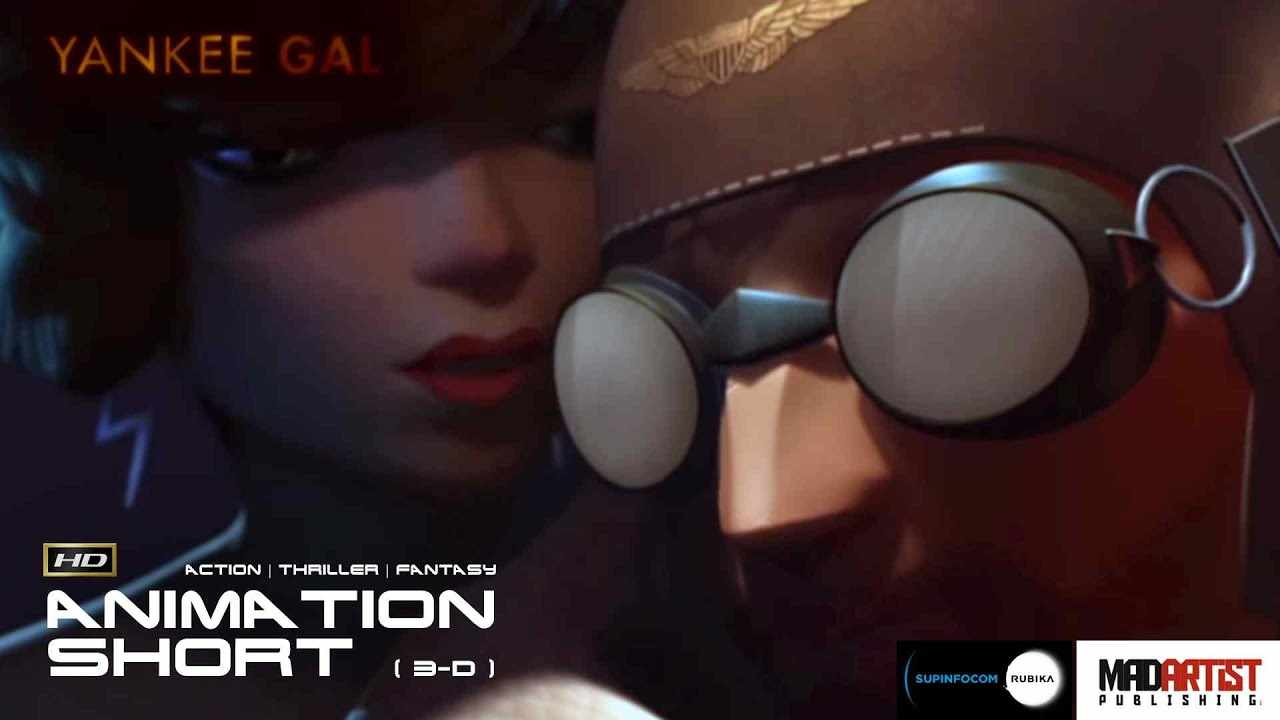 Action War CGI 3D Animated Short Film ** YANKEE GAL ** Sexy Musical Thriller by SupInfocom