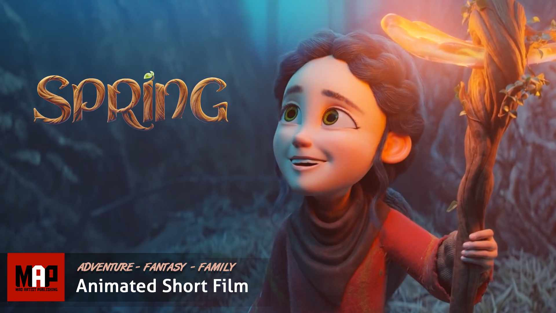 Cute Adventure Fantasy CGI 3d Animated Short Film ** SPRING ** by Blender Foundation