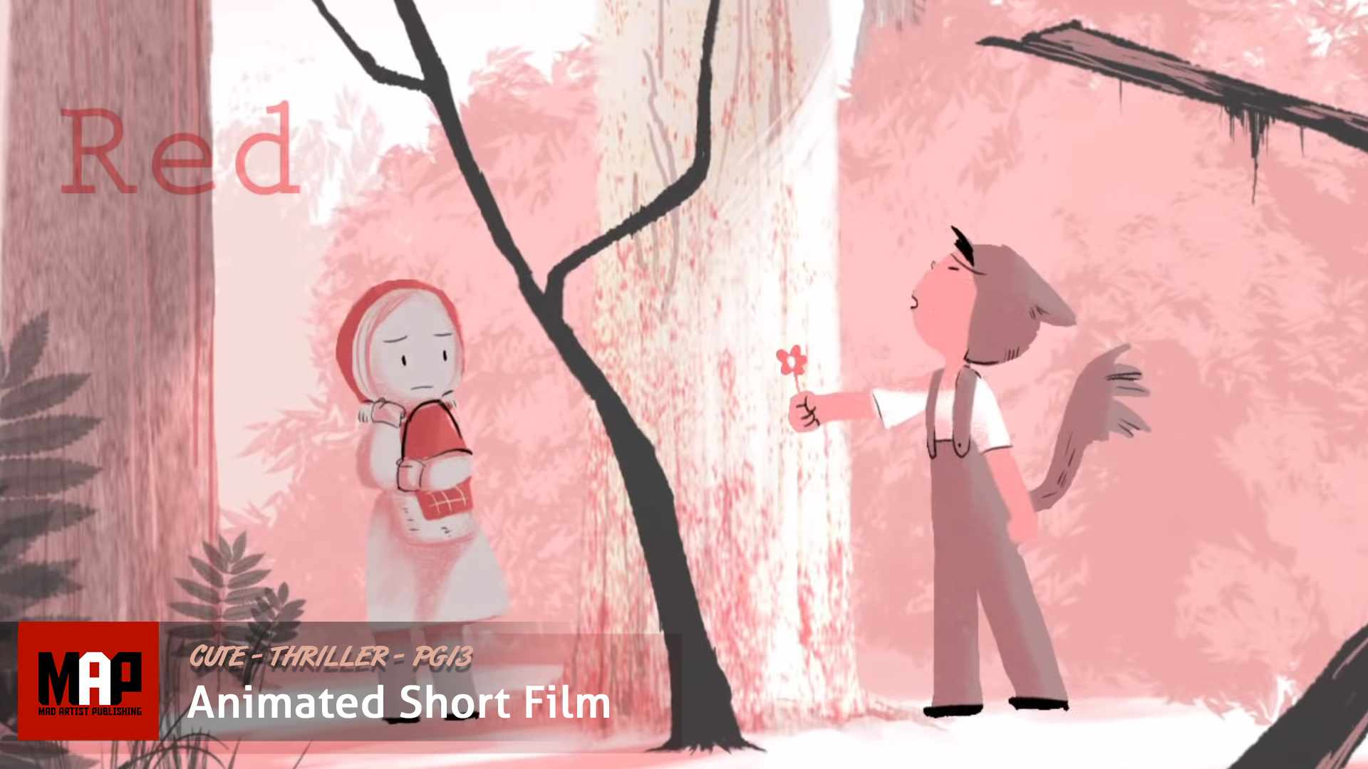 Cute Romantic Animated Thriller ** RED ** Short Film Animation by Hyunjoo Song & CalArts Institute