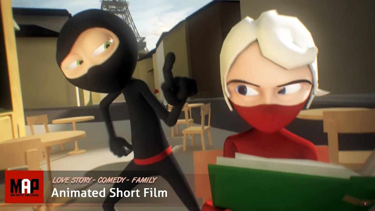 Cute CGI 3d Animated Short Film ** A NINJA LOVE STORY ** Funny Animation Kids Cartoon by Daniel Klug