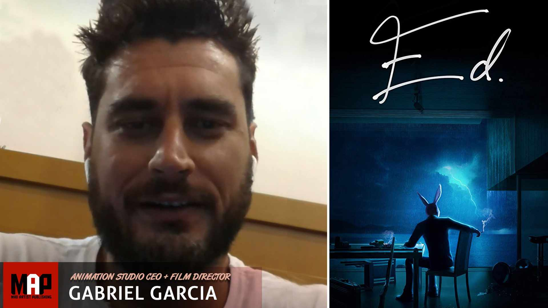 Director Gabriel Garcia Interview on CGI Animated Short Film ** ED ** Movie (PART 1)