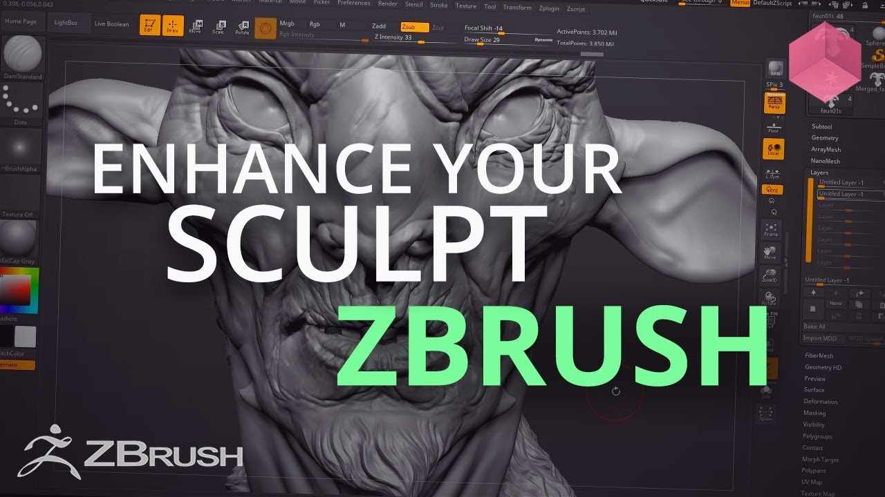 Enhancing your Sculpts in ZBrush - Top Tip
