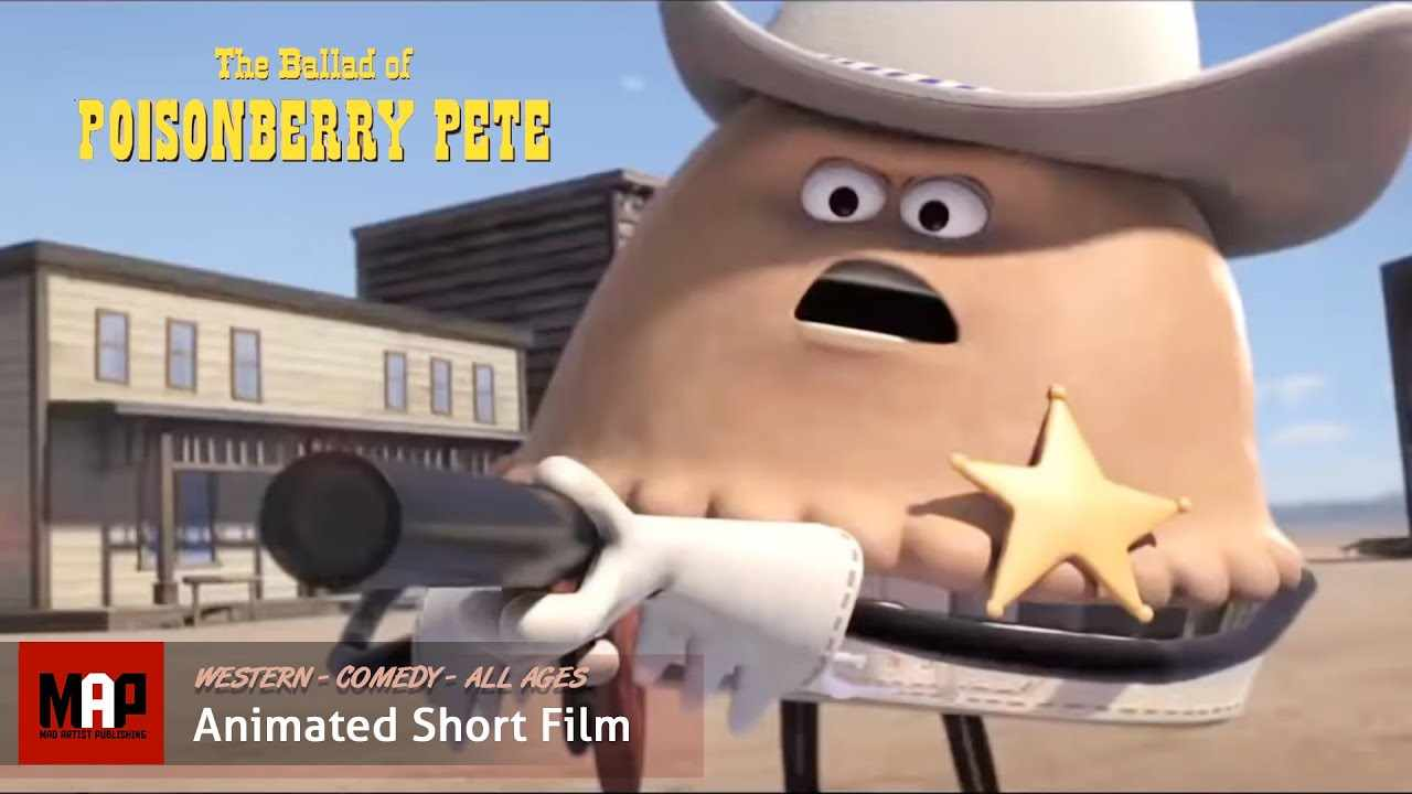 Funny CGI 3D Animated Western ** THE BALLAD OF POISONBERRY PETE ** Animation by Ringling School Team