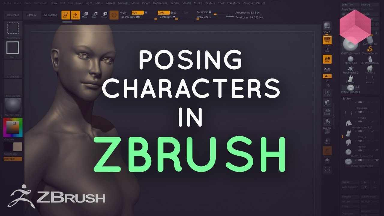 Posing Characters in ZBrush
