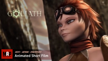 Sci-Fi Cyberpunk CGI 3D Animated Short Film ** GOLIATH ** Steampunk Adventure by ArtFX Team