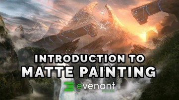 Introduction To Matte Painting - Digital Painting Basics - Concept Art Tutorial