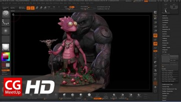 Posing a Character Using Transpose Master in ZBrush | CGI 3D Tutorial HD | CGMeetup