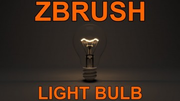 zBrush: Model a Light Bulb Tutorial