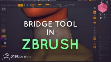 ZBrush - Using the Curve Bridge Brush