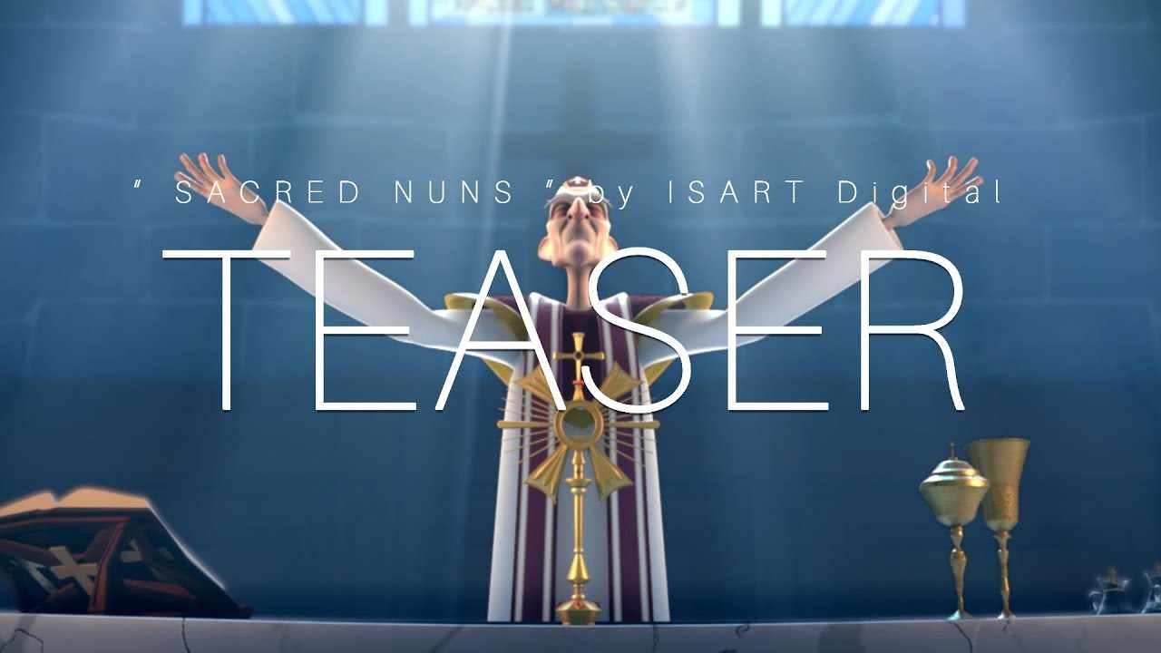 TEASER Trailer | CGI 3D Animated Short Film ** SACRED NUNS ** Funny Animation by ISART DIGITAL Team